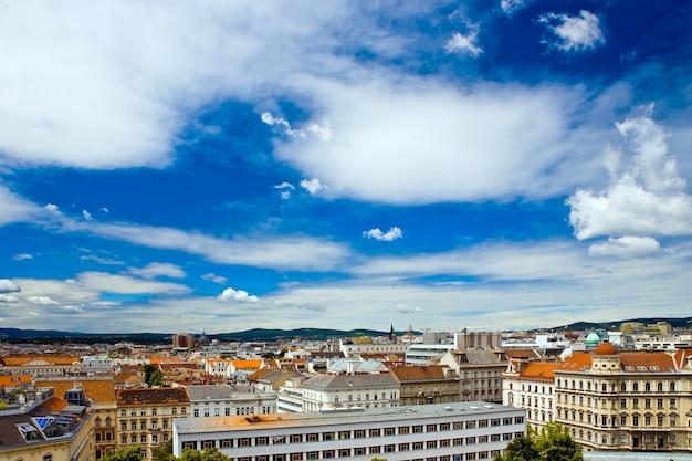 Uitzicht op de stad wenen vanaf het dak, oostenrijk