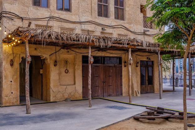 Uitzicht op de straten van de oude arabische stad