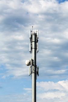 Uitzicht op de telecommunicatietoren