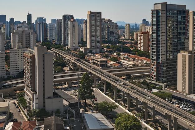 Uitzicht op de wijk brooklin in sao paulo