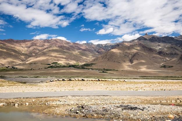 Uitzicht op de zanskar-vallei