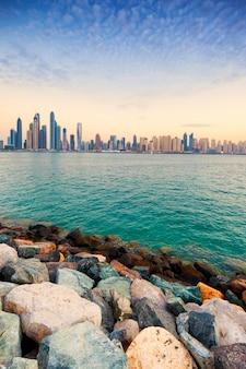 Uitzicht op dubai, verenigde arabische emiraten.