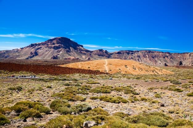 Uitzicht op het belangrijkste plateau in het nationale park teide, tenerife, spanje