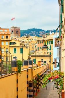 Uitzicht op het centrale deel van de stad genua, ligurië, italië