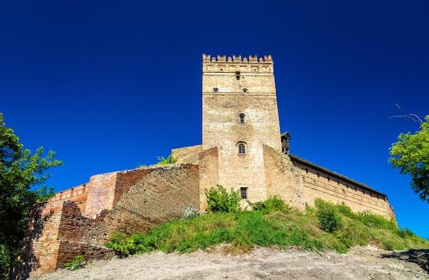 Uitzicht op het kasteel van lubart in lutsk, oekraïne