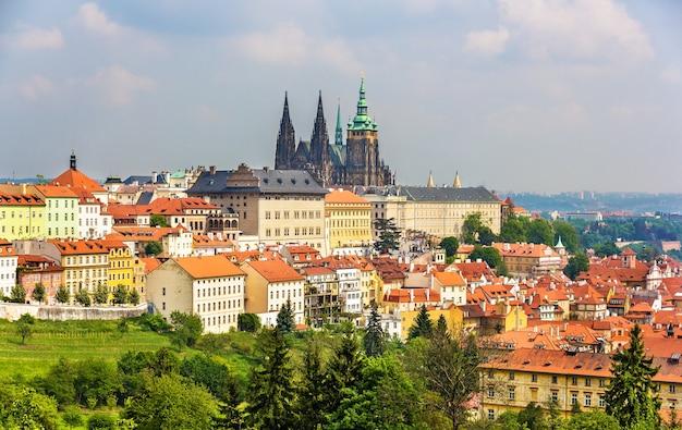 Uitzicht op het kasteel van prazsky hrad