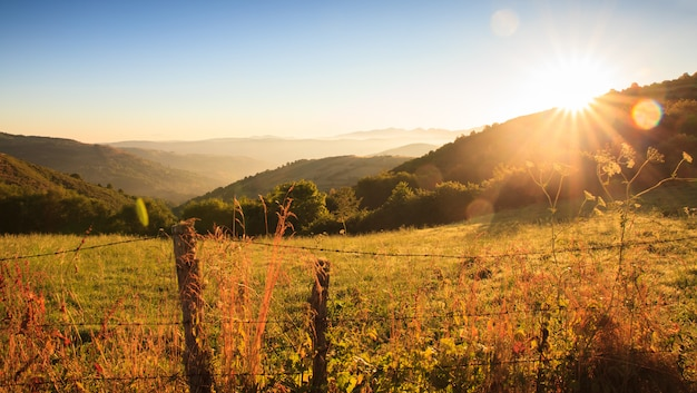 Uitzicht op het landschap van galicië