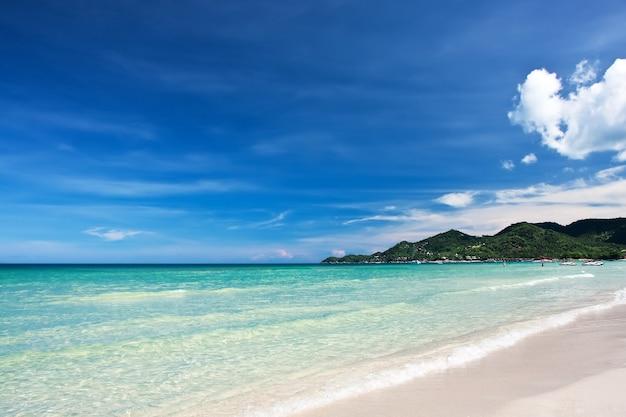 Uitzicht op het strand van chaweng, koh samui (samui island), thailand