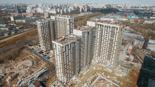 Uitzicht op hoogbouw appartementsgebouwen