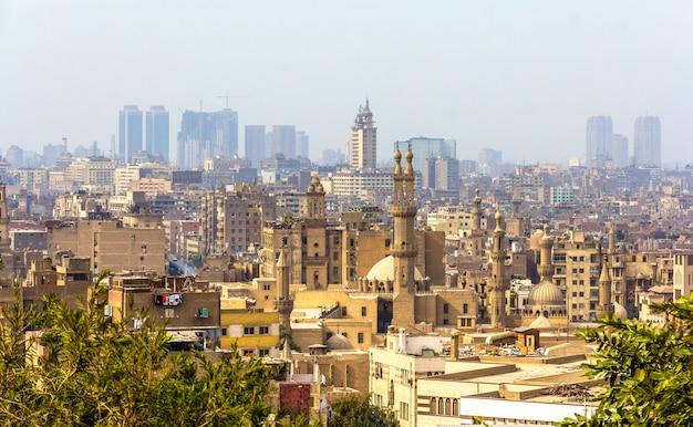 Uitzicht op islamitisch caïro, egypte