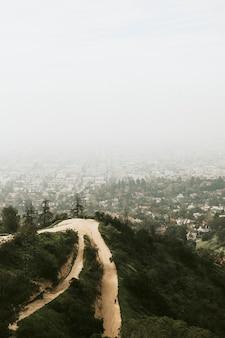 Uitzicht op los angeles vanaf de heuvels