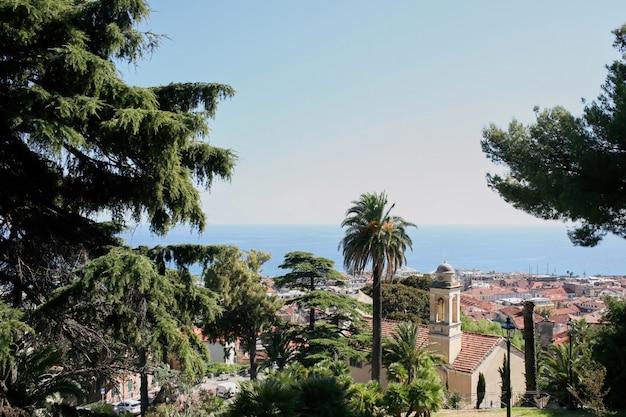 Uitzicht op sanremo, italië