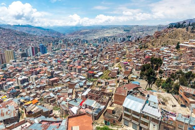 Uitzicht over de stad, la paz, bolivia