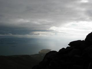 Uitzicht over reykjavik, ijsland