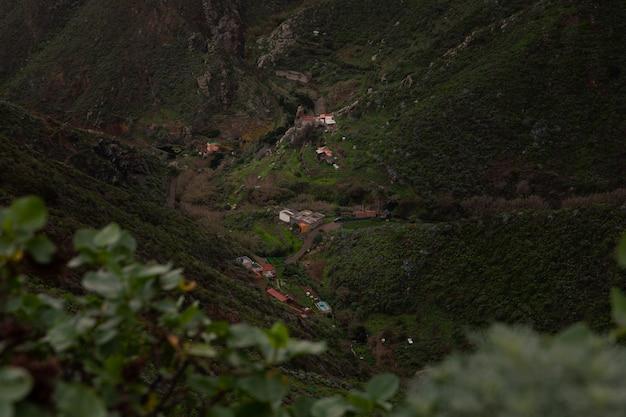 Uitzicht vanaf anaga rural park in het noorden van tenerife, canarische eilanden, spanje.