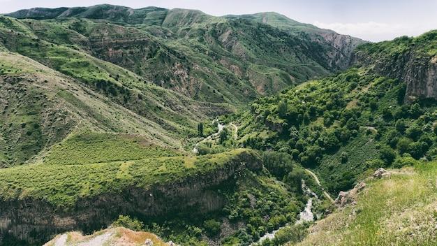 Uitzicht vanaf de garni-tempel - armenië