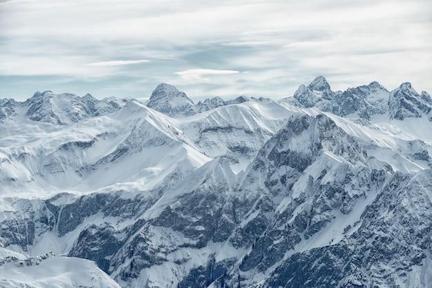 Uitzicht vanaf de nebelhorn-berg, beierse alpen,