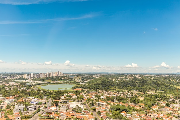 Uitzicht vanaf de panoramische toren van curitiba