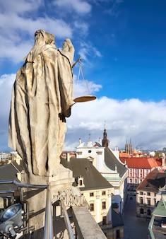 Uitzicht vanaf de wiskundige toren in de universiteit van wroclaw
