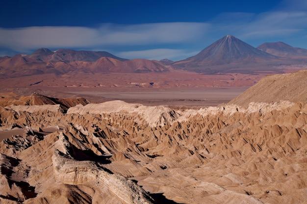Uitzicht vanaf valle de la muerte, chili