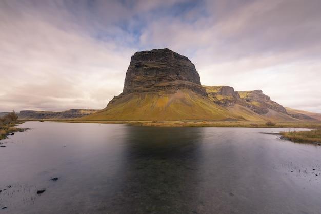 Uitzicht vanaf zuid-ijsland.