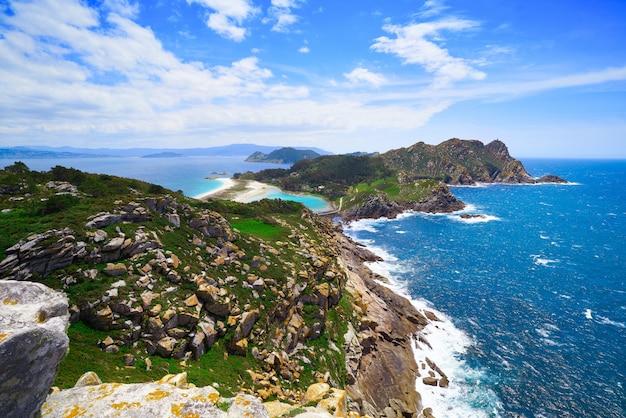 Uitzichtpunt alto do principe op islas cies-eilanden