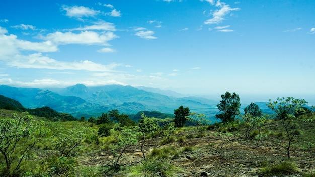 Uitzichtpunt van een berg
