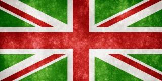Uk grunge vlag kerstmis kleuren