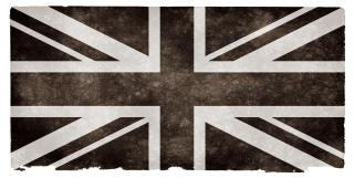 Uk grunge vlag zwart-wit
