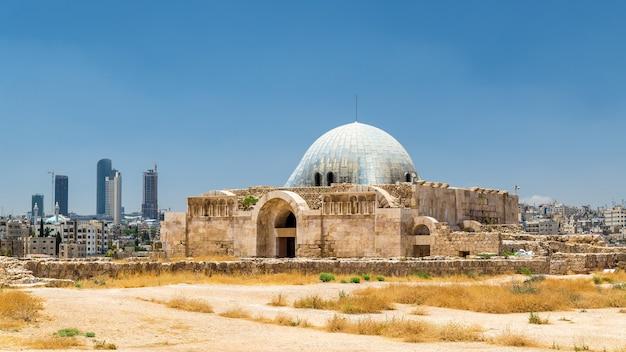 Umayyad palace in de amman citadel - jordanië