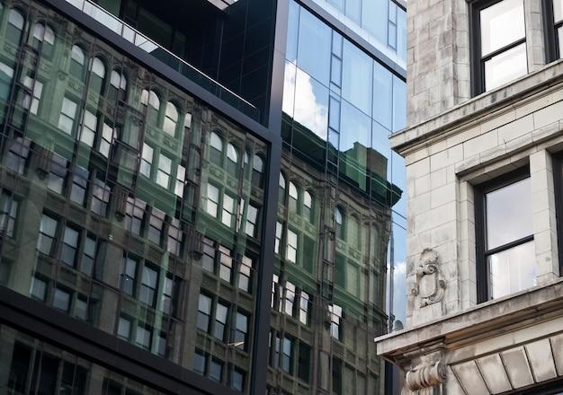 Unie vierkante gebouwen refelctions