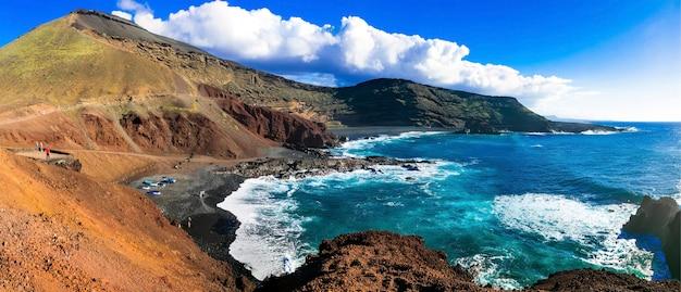 Unieke aard van vulkanisch mooi lanzarote. canarische eilanden