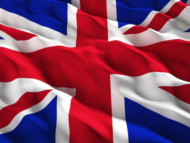 Union jack detail van de vlag van groot-brittannië