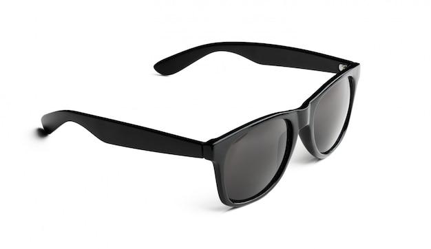 Unisex donkere zonnebril die op witte oppervlakte wordt geïsoleerd
