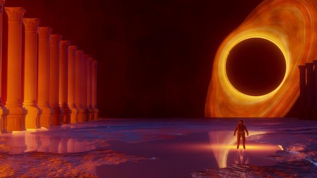 Universum en ruimte, verkenning van het oppervlak van de planeet.