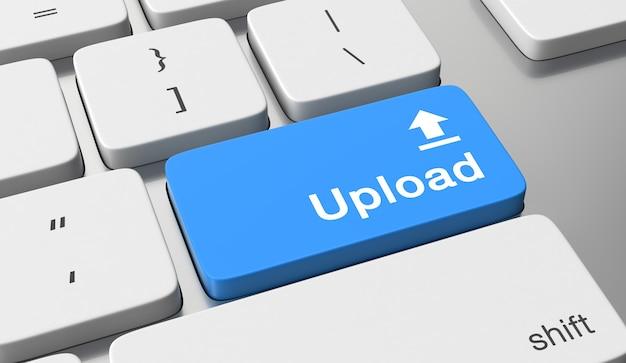Upload tekst op toetsenbord knop