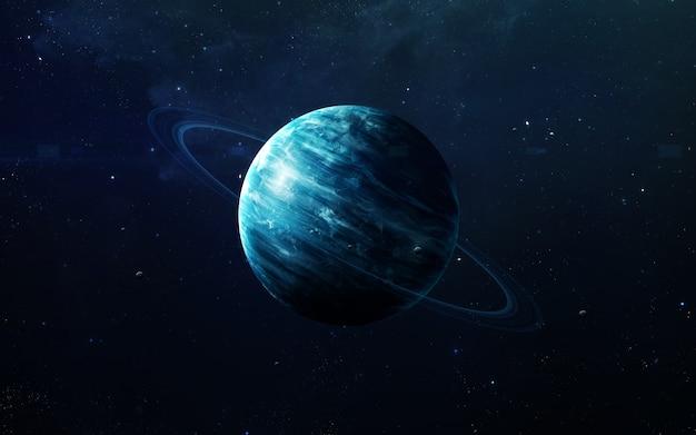 Uranus - prachtige kunst in hoge resolutie presenteert de planeet van het zonnestelsel