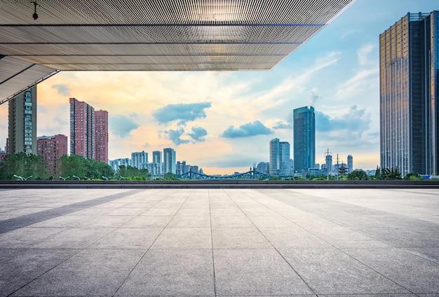 Urban downtown china financieel
