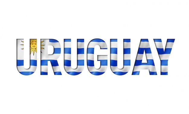 Uruguaian vlag tekstlettertype
