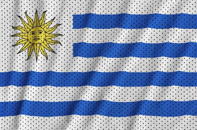 Uruguay-vlag gedrukt op een polyester nylon gaas