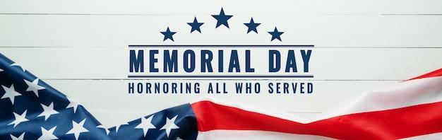 Usa memorial day en independence day concept, vlag van de verenigde staten van amerika