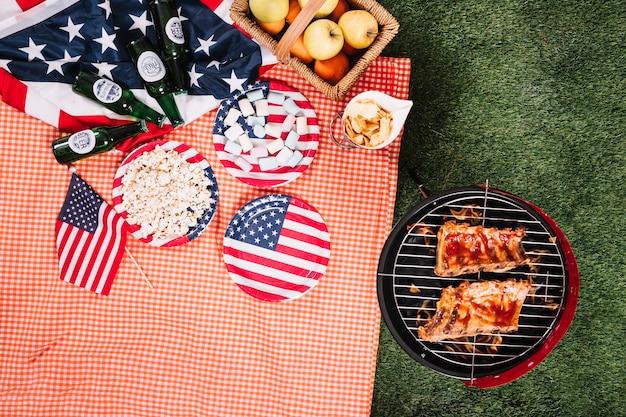 Usa onafhankelijkheidsdag concept met barbecue