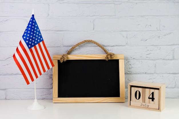 Usa onafhankelijkheidsdag concept met leisteen