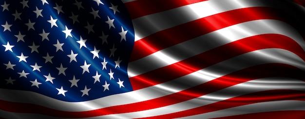 Usa vlag achtergrondontwerp met kopie ruimte 3d illustratie