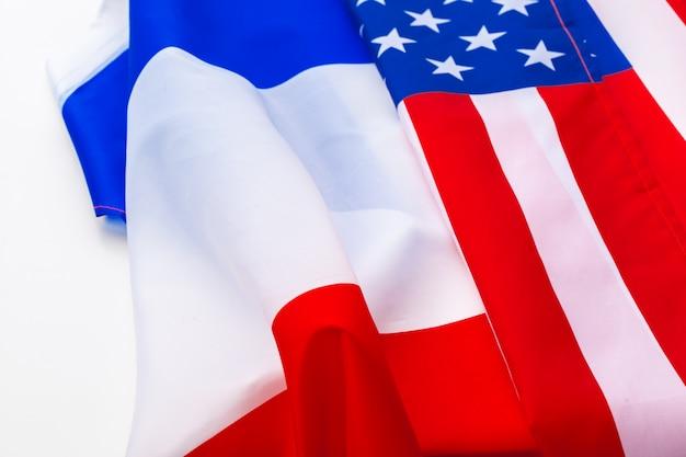 Usa vlag en rusland vlag