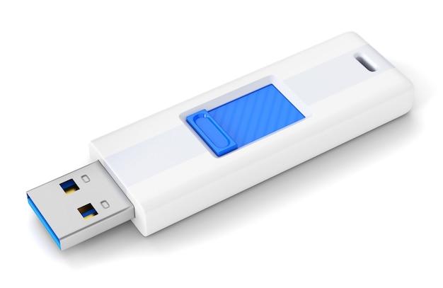 Usb-flashstation geïsoleerd op een witte achtergrond
