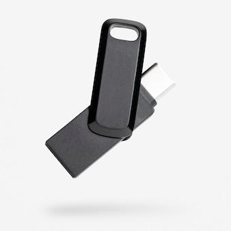 Usb-flashstation mockup-technologie gegevensopslagapparaat