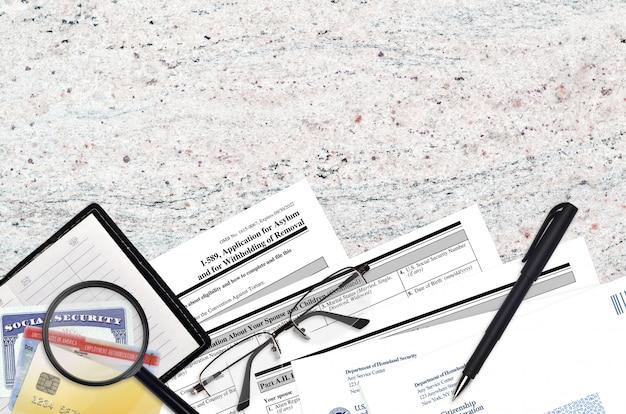 Uscis-formulier i-589 asielaanvraag en opschorting van verwijdering