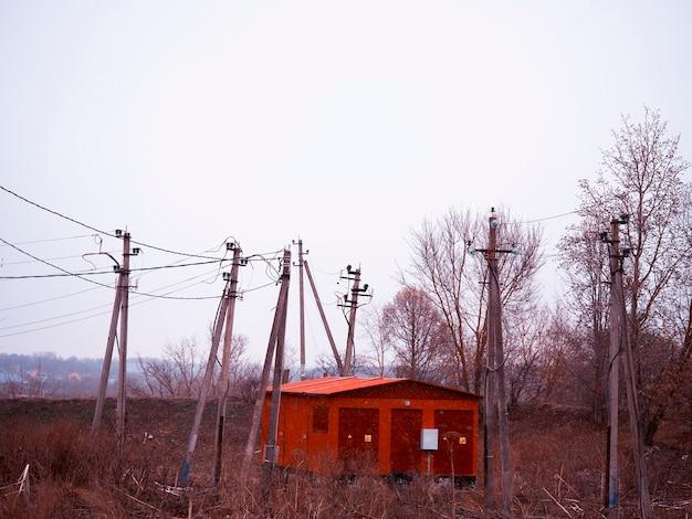 Ussr vintage power onderstation industriële achtergrond
