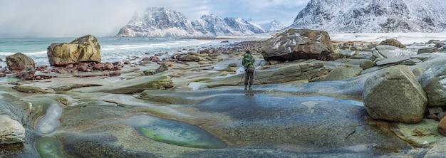 Utakleiv beach lofoten noorwegen